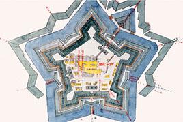 五稜郭的設計圖