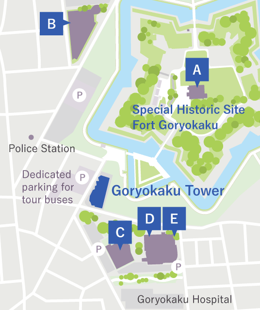 Cultural facilities around Goryokaku