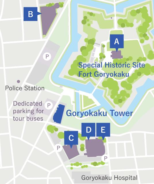 Cultural facilities around Goryokaku
