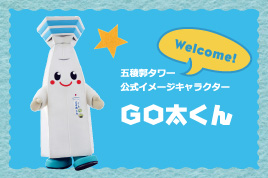 Official mascot of the Goryokaku Tower, Gota-kun's room.