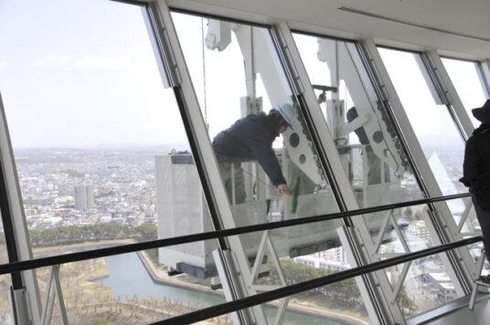 展望台窓ガラス清掃作業実施のお知らせ